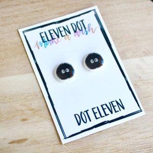 Jewelry - Studio Ghibli Soot Sprite Neighbor Totoro Earrings